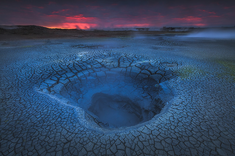 The geothermal area around Lake Mývatn can often be described as 'otherworldly'.