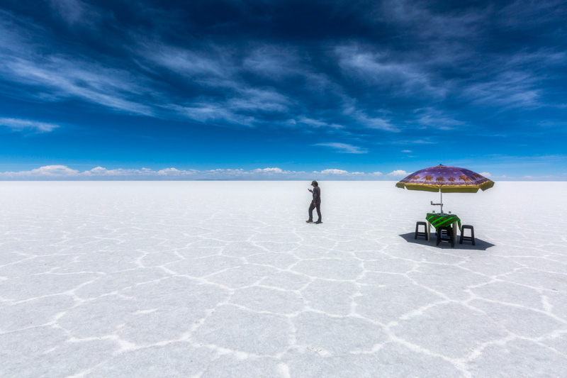 Photographing the salt plains of Bolivia is a true privilege.
