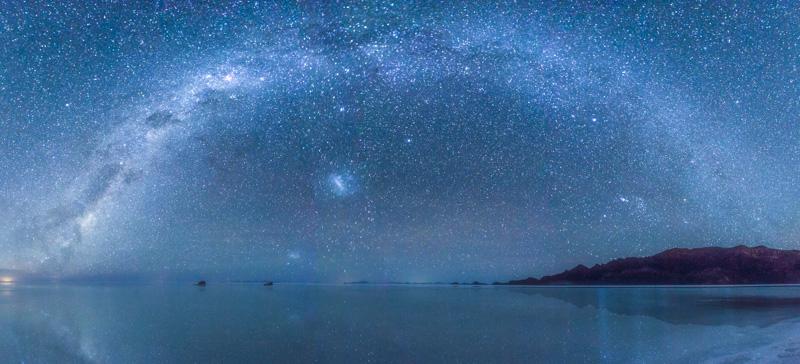 The Milky Way over the Bolivian coast.