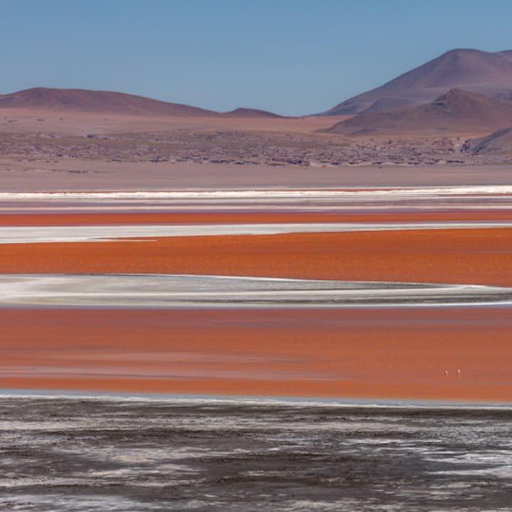 Salt plains in Bolivia.