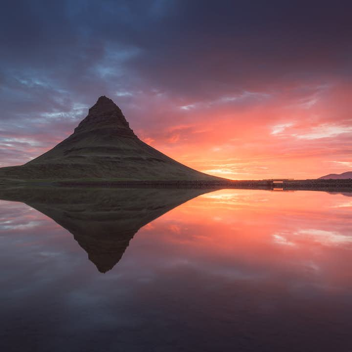 Iceland's most photographed mountain, Kirkjufell, can be found on the Snæfellsnes peninsula.