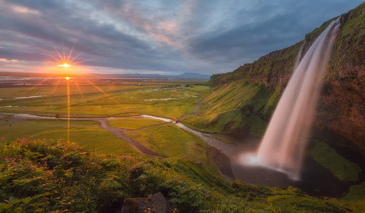 The mighty Seljalandsfoss, one of the most beautiful waterfalls on Iceland's South Coast.