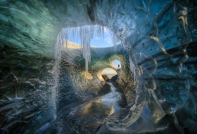 Excursion photo de 4 jours avec aurores boréales et grotte de glace