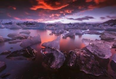 Tour fotográfico de 3 días por la Costa Sur y el Parque Nacional de Vatnajökull