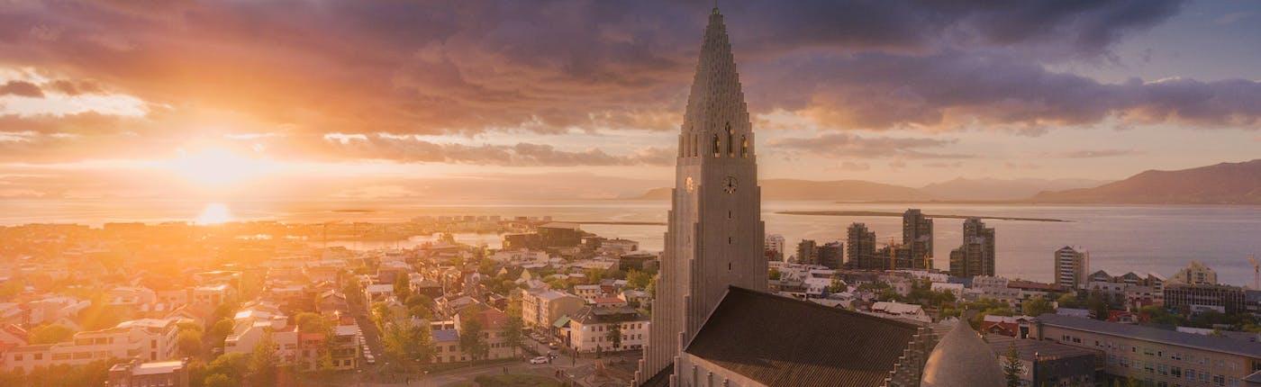 Reykjavik in the Midnight Sun