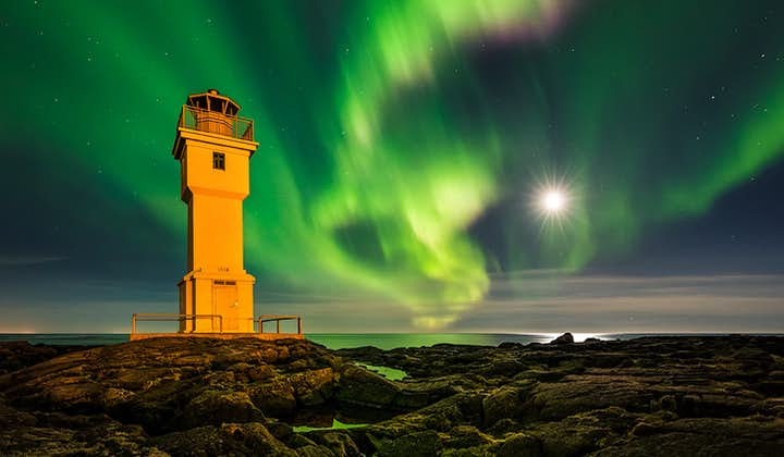 A lighthouse is the perfect subject to have in the foreground of an epic Northern Lights shot.