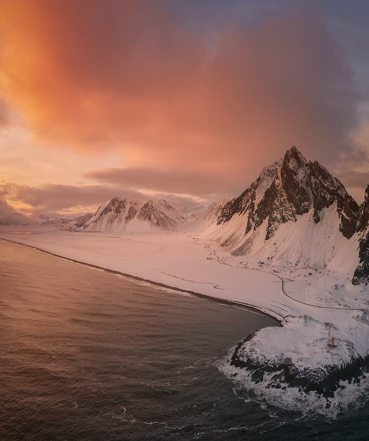 Aerial view of Vestrahorn - Photo by Edwin Martinez