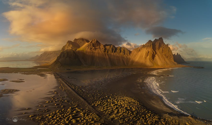 Vestrahorn aerial view - Photo by Edwin Martinez