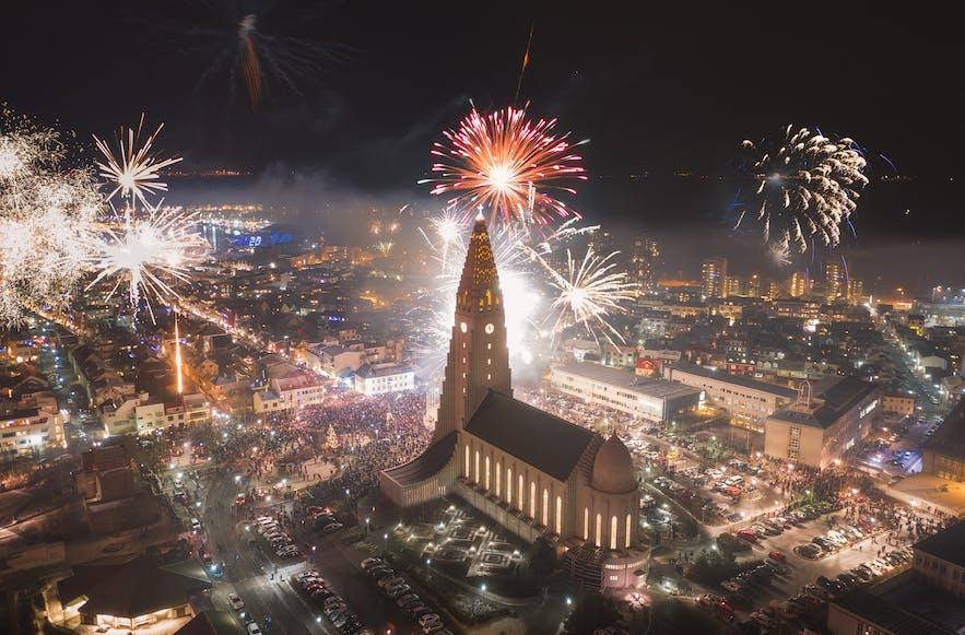 Fireworks in Reykjavik - Photo by Iurie Belegurschi