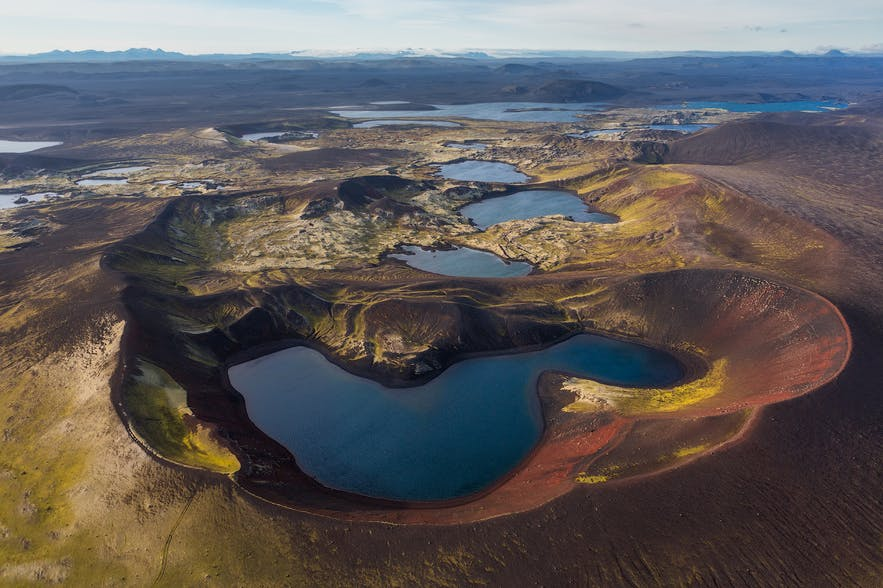 Crater lakes in Iceland - Photo by Iurie Belegurschi