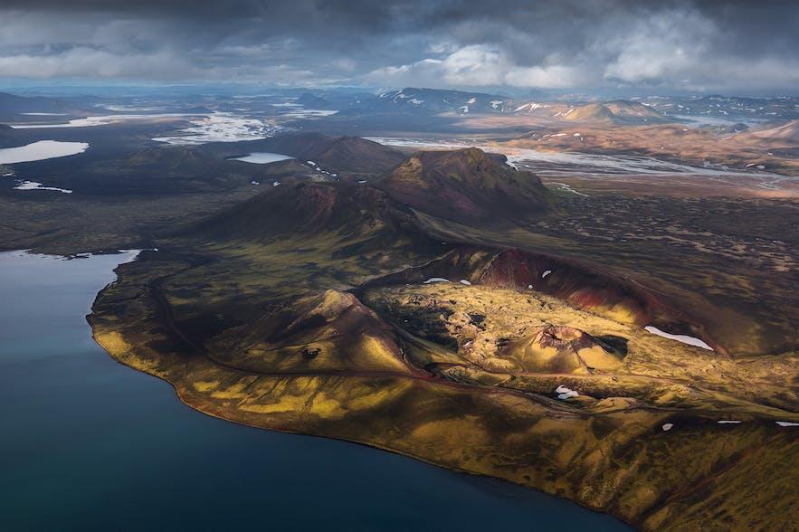 Volcanoes from the sky - Photo by Iurie Belegurschi