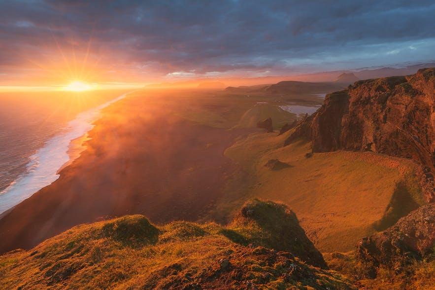 Die Mitternachtssonne in Island
