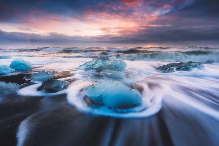 La plage de diamants offre de nombreuses possibilités pour des photos fantastiques.