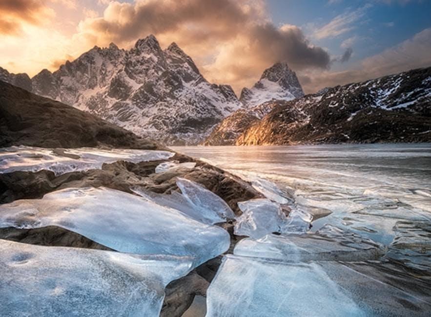 Mountains in Lofoten