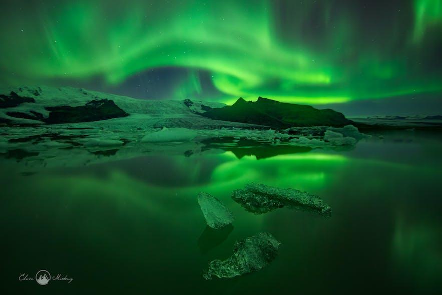 Northern Lights over the Glacier Lagoon - Photo by Iurie Belegurschi