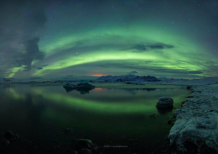 Panorama of the Northern Lights - Photo by Dani Lefrancois