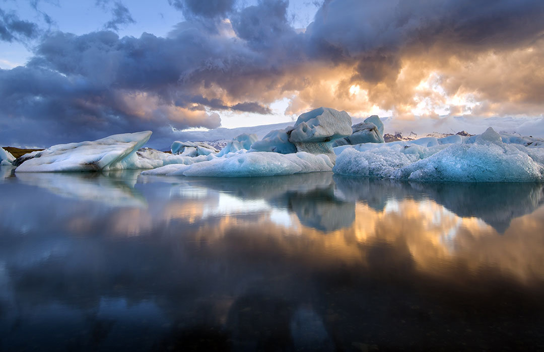Photographing Ice in Iceland