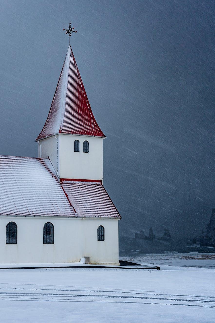 Snow Storm in Vik - Photo by Marc Pelissier