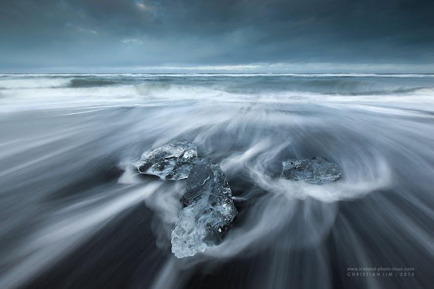Diamond ice beach - Photo by Christian Lim