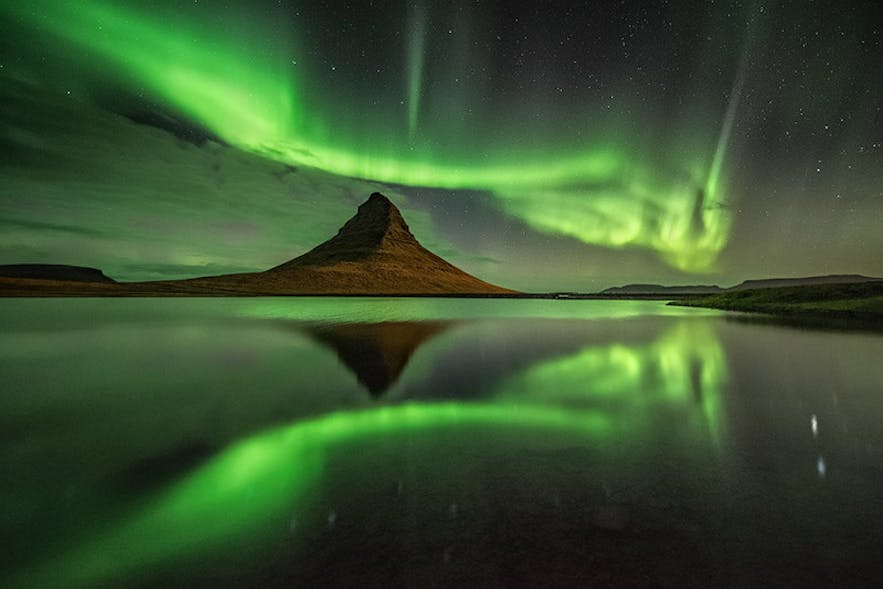 Northern Lights at Kirkjufell - Photo by Raymond Hoffman