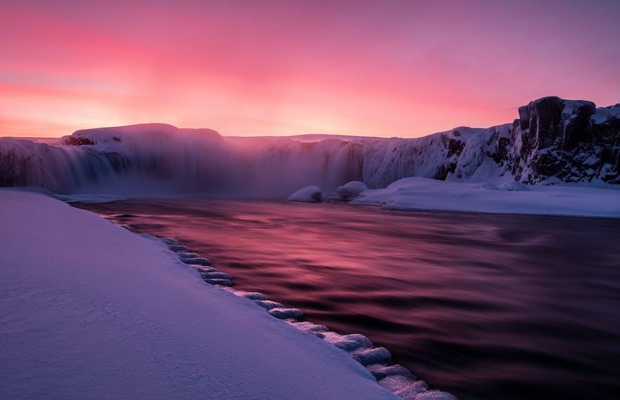 Godafoss Sunset. Photo by: 'Serena Dzenis'.