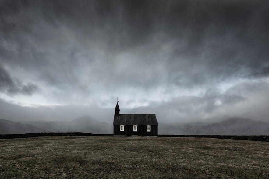 Black Church of Budir. Photo by: 'Mads Peter Iversen'.