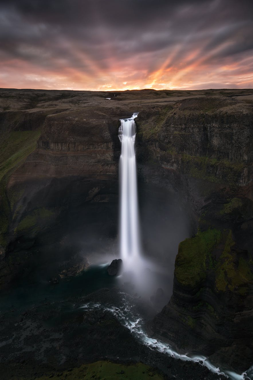 Haifoss. Photo by: 'Mads Peter Iversen'.