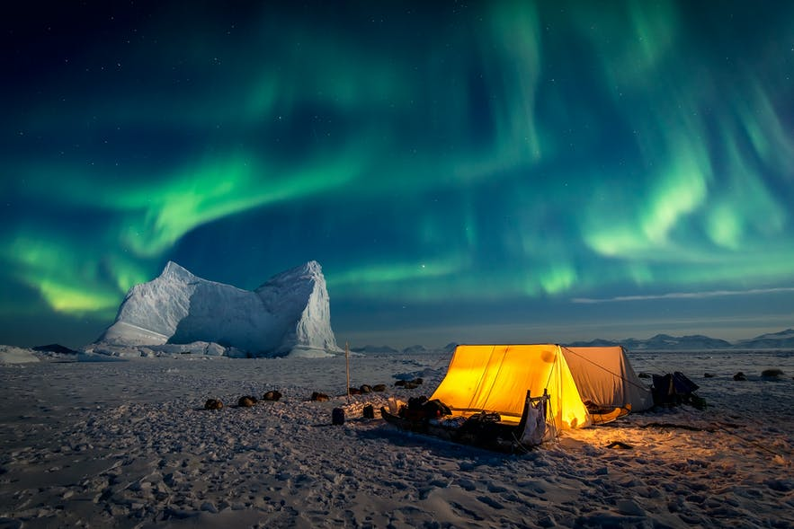 Ice Camp Aurora. Photo by: 'Kerry Koepping'.