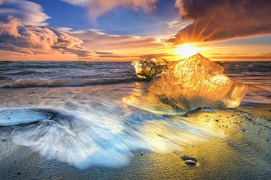 Diamond Ice Beach. Photo by: 'Siggi'.
