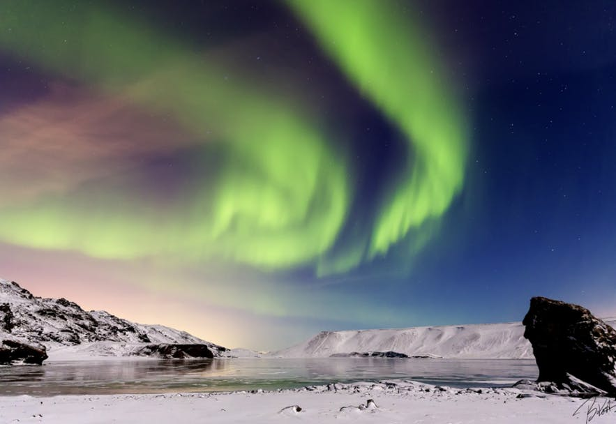 Northern Lights. Photo by: 'Bragi Kort'.