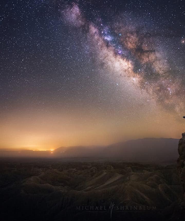 Milky way photography. Photo by: 'Michael Shainblum'.