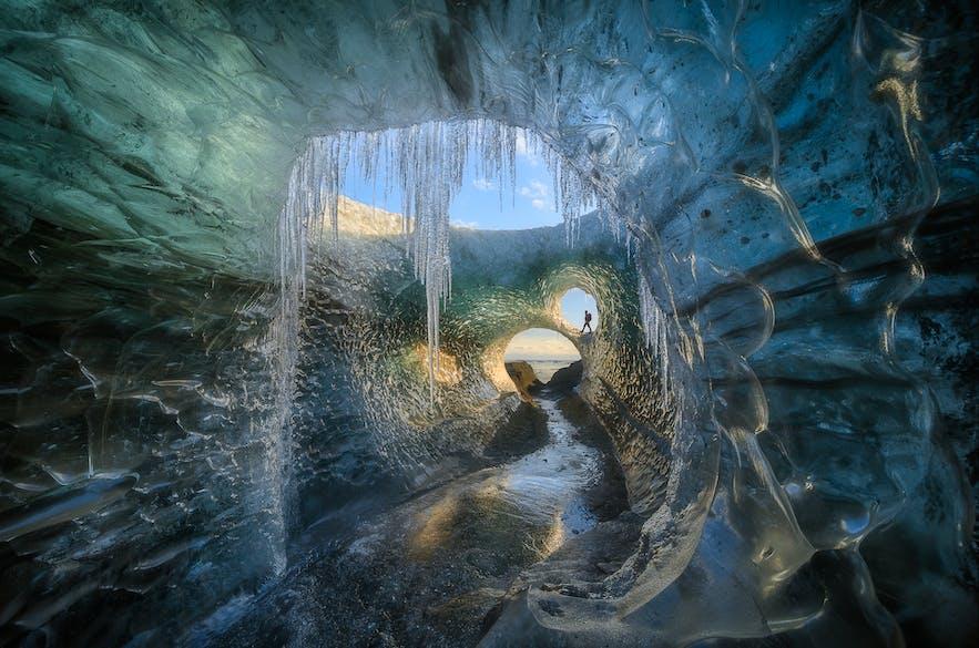 Eishöhlen in Island