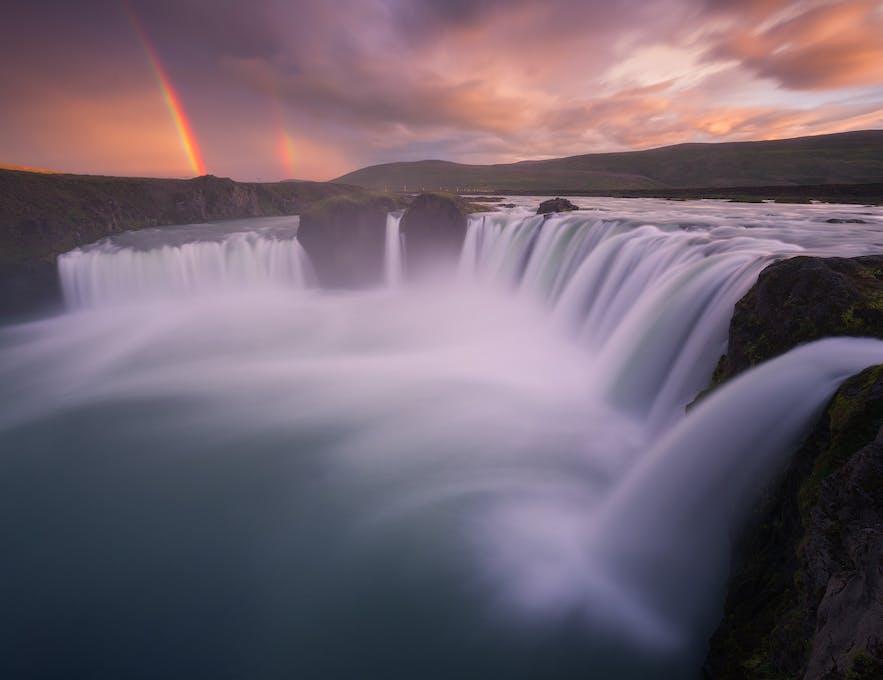 Rainbow at Godafoss