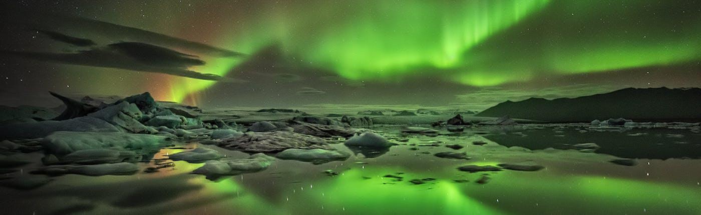 Northern Lights at Jokulsarlon