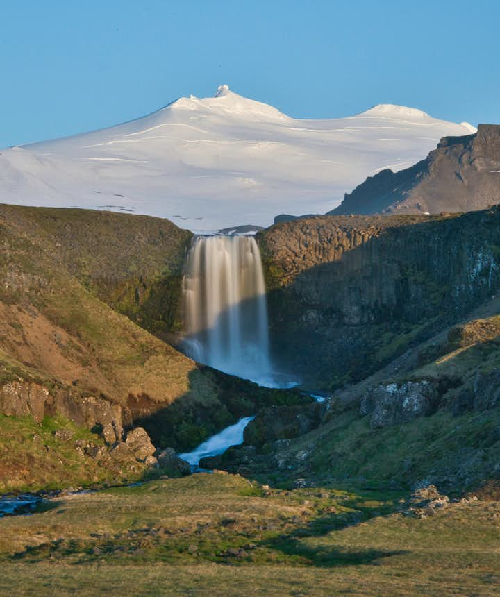 Svöðufoss is one of the less known waterfalls located at Snæfellsnes Peninsula