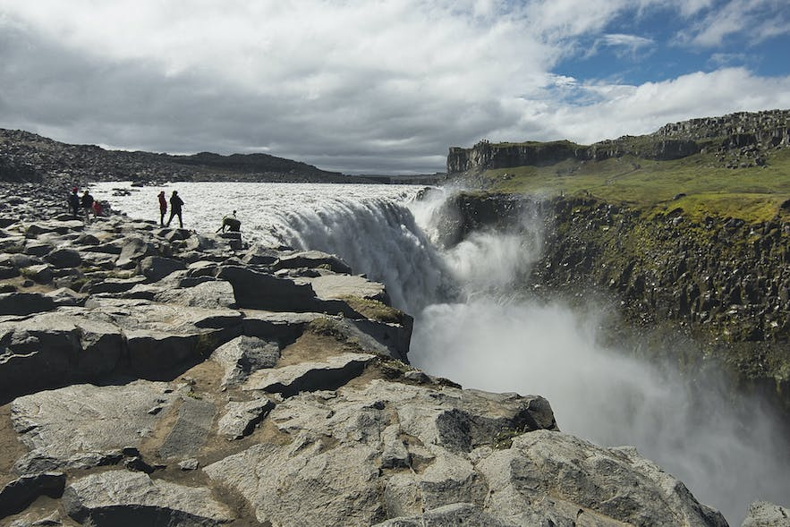 Dettifoss waterfall in the north region