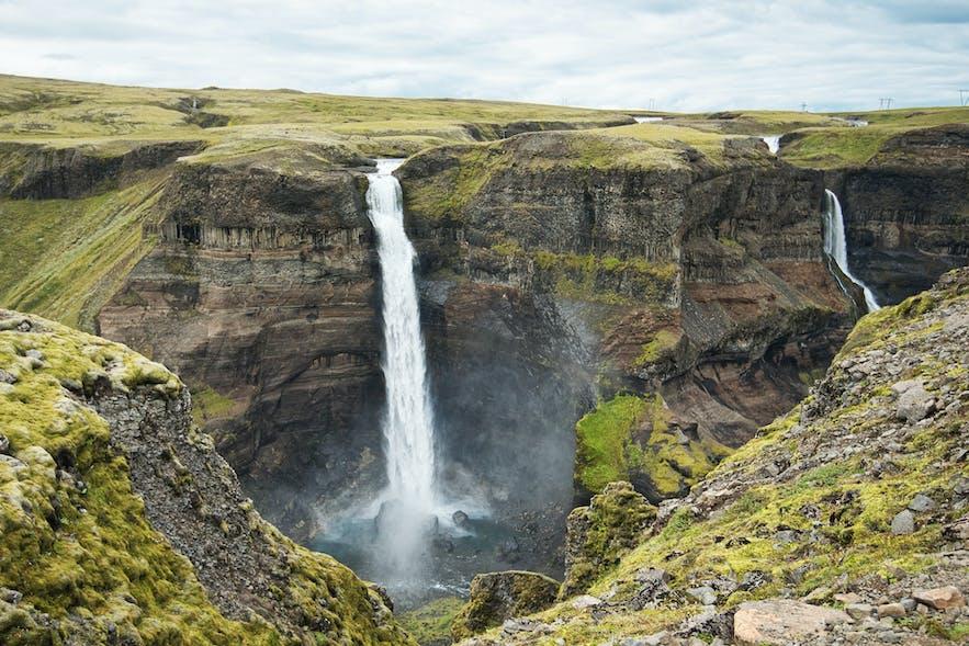 Háifoss waterfall in Þjórsárdalur