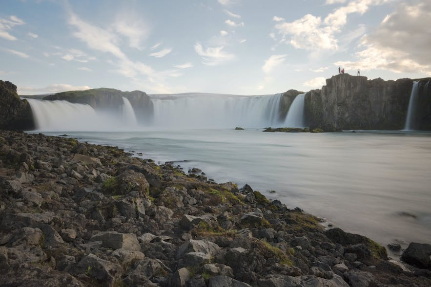 Goðafoss waterfall in the north is easily accessible and on the Ring Road