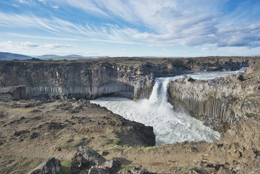 Aldeyjarfoss at the edge of the highland in the north