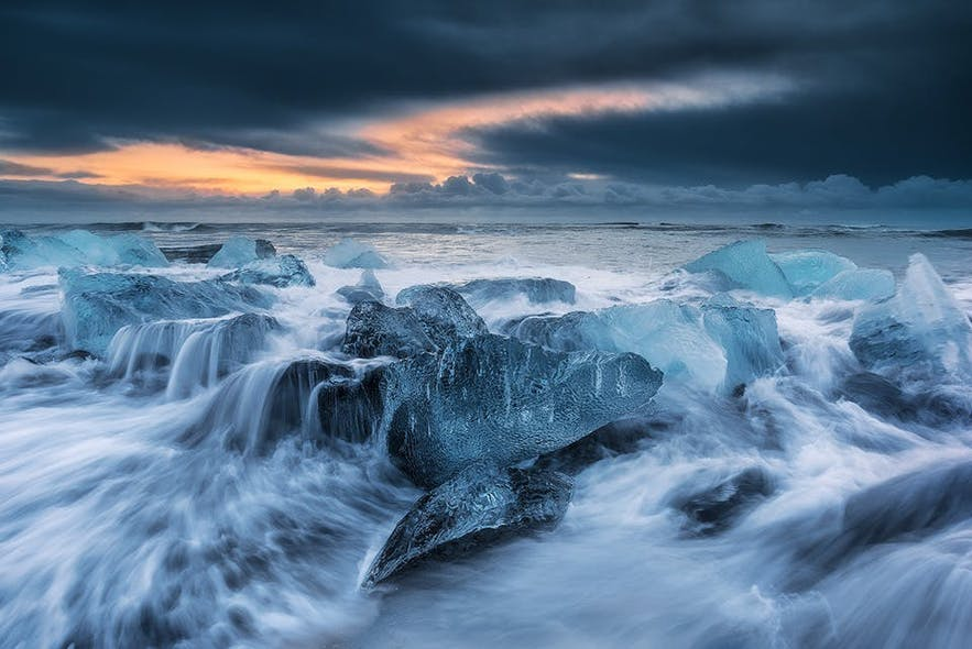 ice beach photos iceland
