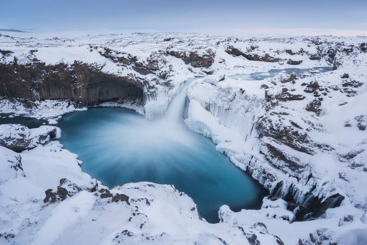 Aldeyjarfoss waterfall is tricky to get to but it's so worth it as it's a stunning natural sight.