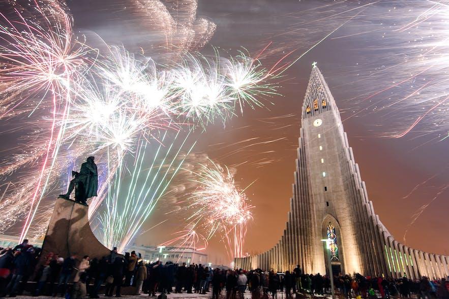 New Year's Eve at the Hallgrimskirkja