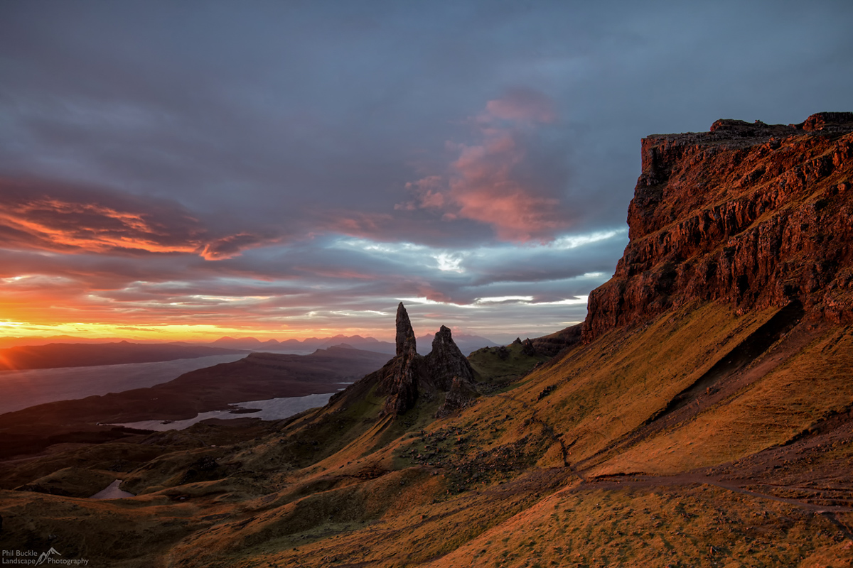 You will take incredible sunrise shots from the Old Man of Storr.