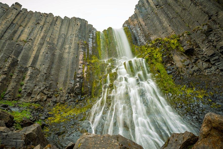 Stuðlafoss waterfall in Jökuldalur