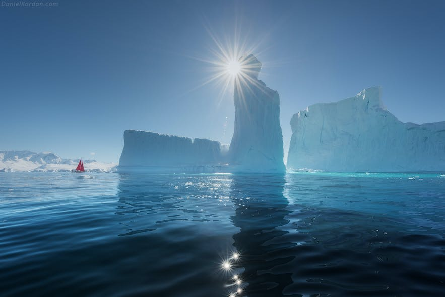 The sun never sets in Antarctica in summer.