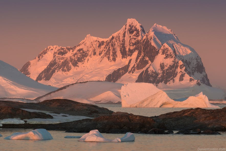 Antarctica is a bright land throughout summer.