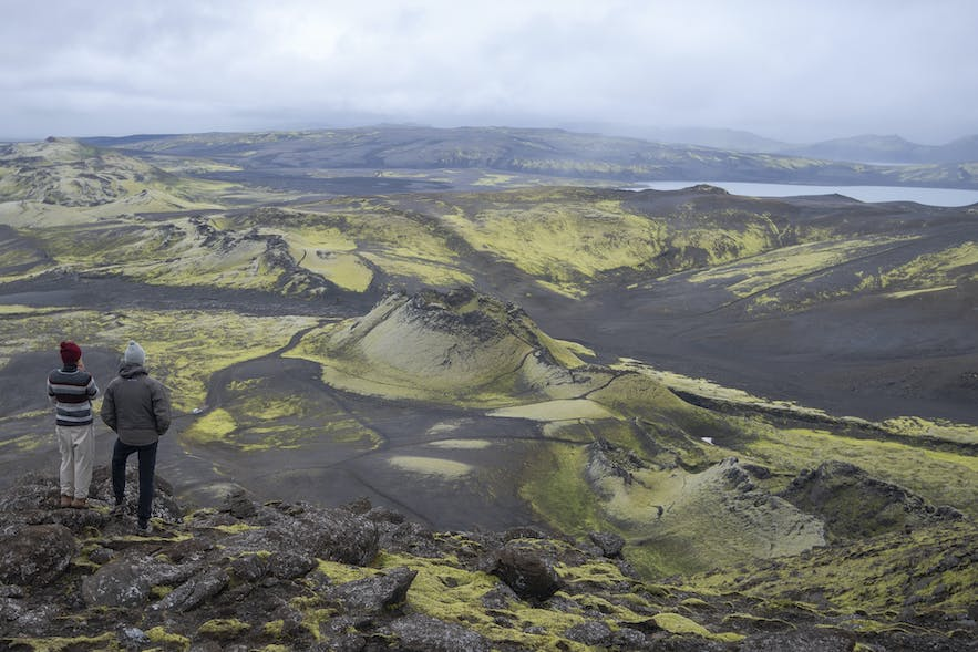 A spectacular view from Laki mountain to the west part of Lakagígar craters
