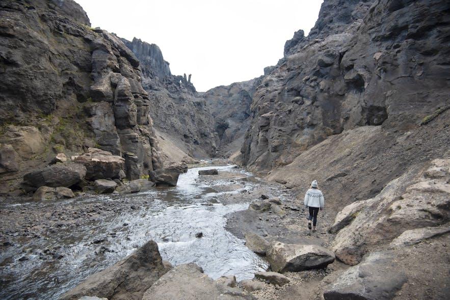 Drekagil gorge in the Icelandic highland