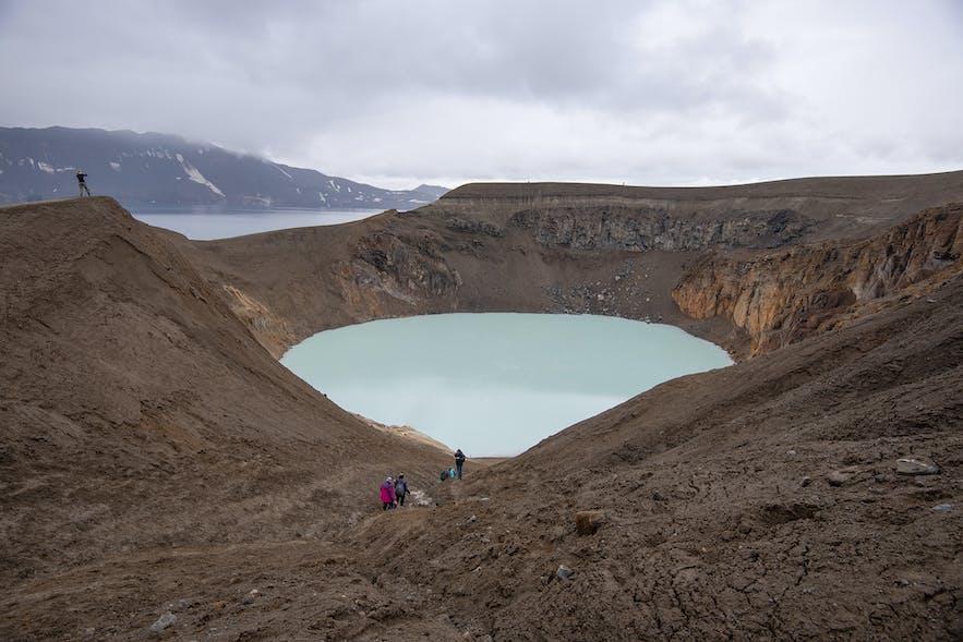 Viti crater and Askja (caldera) lake.