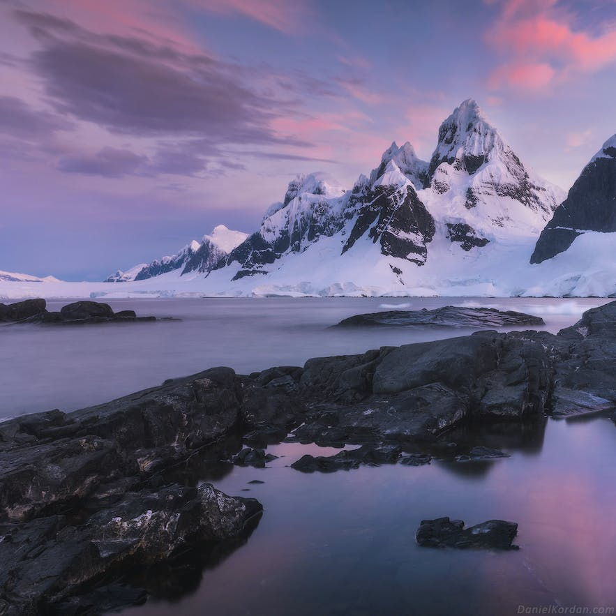 The Antarctic Peninsula is a magical place to practice landscape photography.